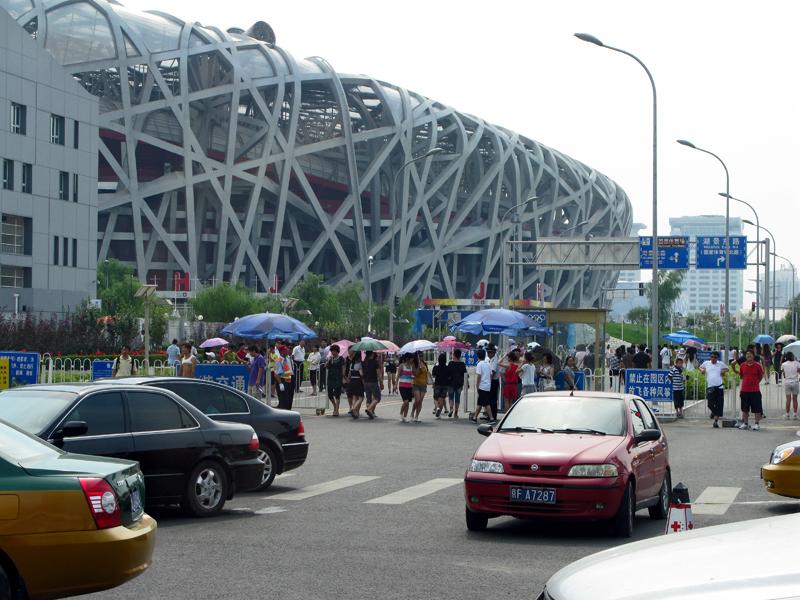 Many Chinese tourists visit the stadium