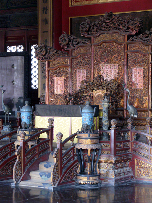 Imperial throne in a ceremonial palace