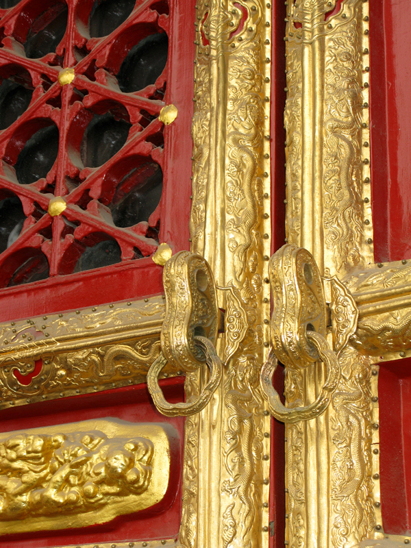 Doors also are sumptuously ornamented