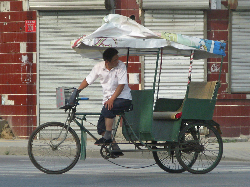 A rickshaw is always waiting for you