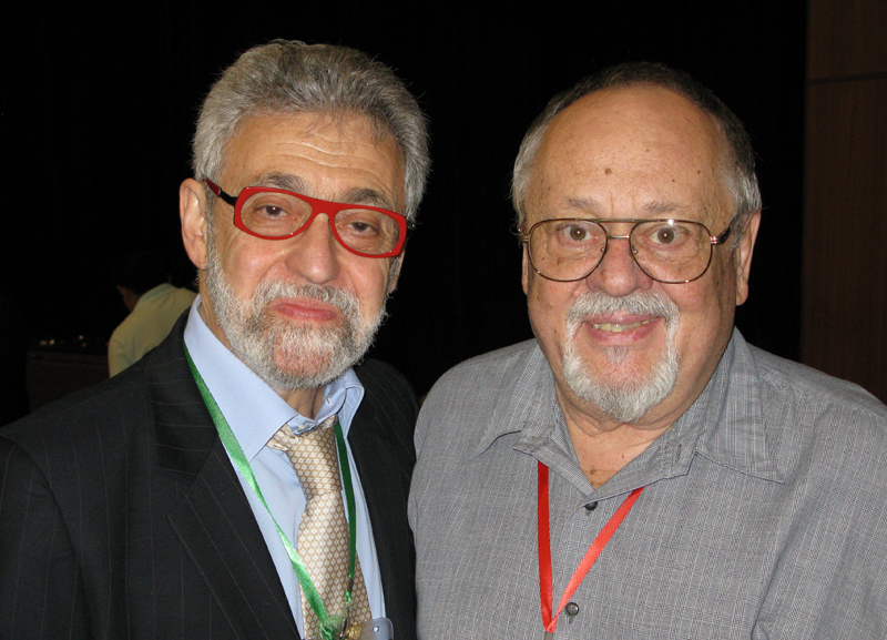 With Hank MOOREHOUSE (USA) (1934-2011) artistic director for the FISM gala shows