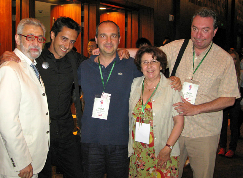 With (from l. to r.) Luis DE MATOS (Portugal), Remo PANNAIN (Italy) and Paulino GIL (Spain)