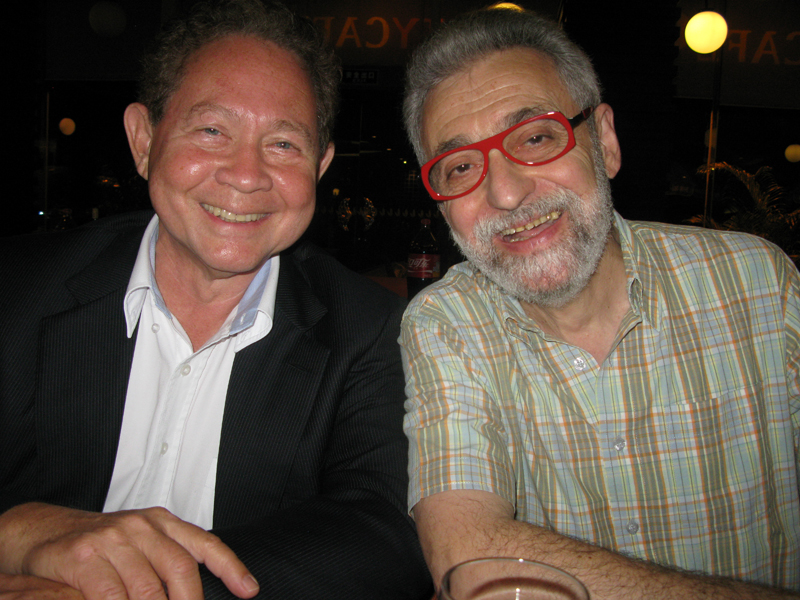 Eric Eswin (at that time FISM President, International Federation of Magic Societies) with Omar Pasha
