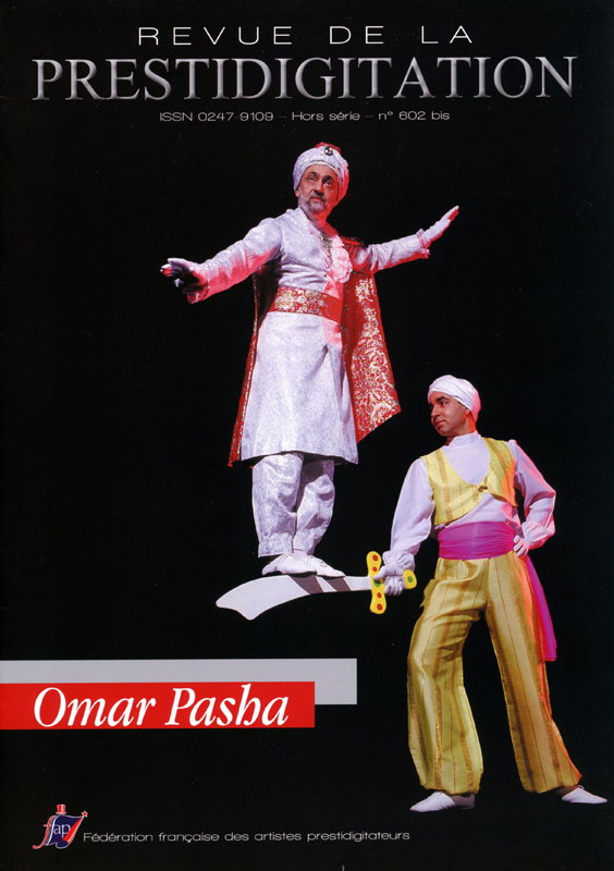French magic magazine (FFAP), front cover, special edition dedicated to Omar Pasha, 2014
