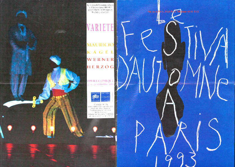 France, Paris, Fall Festival program cover, page one and four, 1993