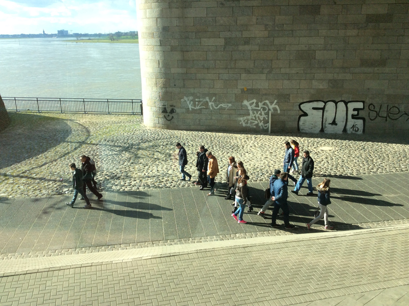 Under a Rhine bridge