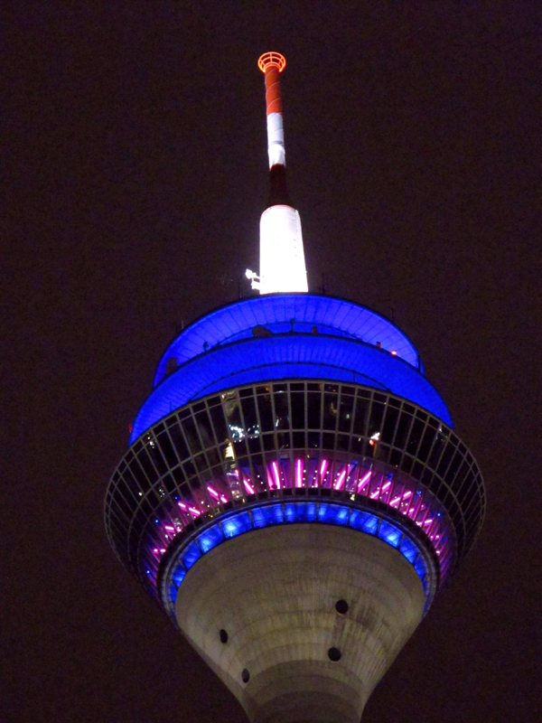 Rhine tower by night
