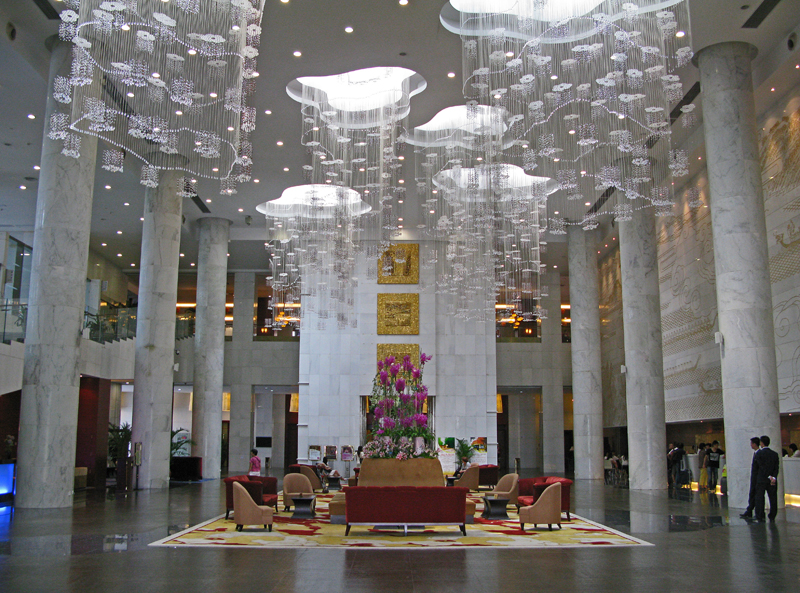 Baiyun International Convention Center. Hotel's hall.