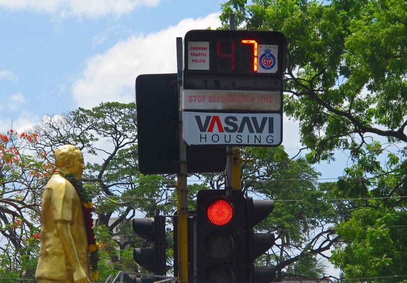 Regulating traffic in Chennai