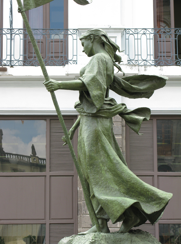 Memorial statue of Beatriz Hernández de Sánchez Olea, location where Guadalajara was founded.