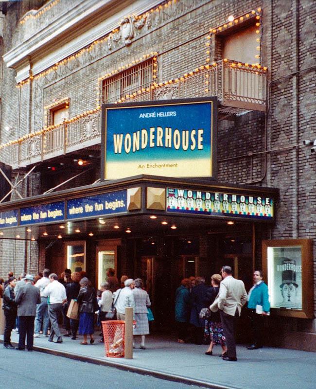 "USA, New York, on Broadway, ""Wonderhouse"", 1991"