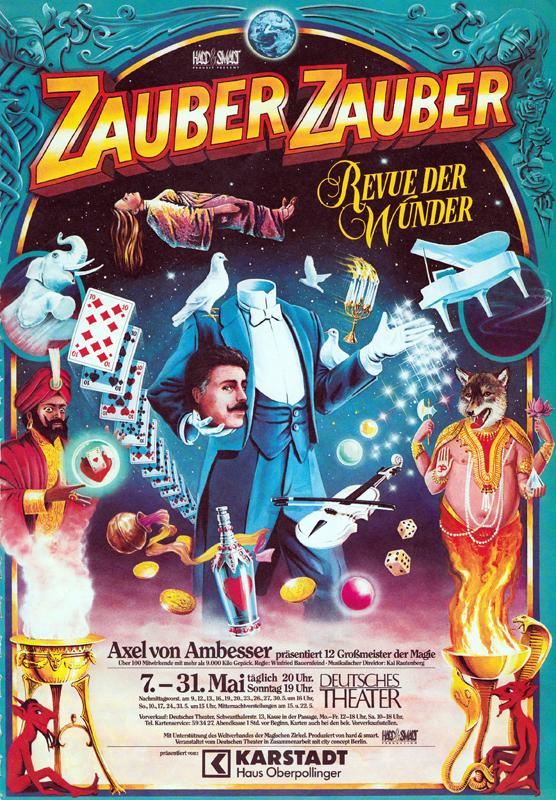 """Germany, Munich, """"Zauber Zauber"""" magic tour, 1987"""