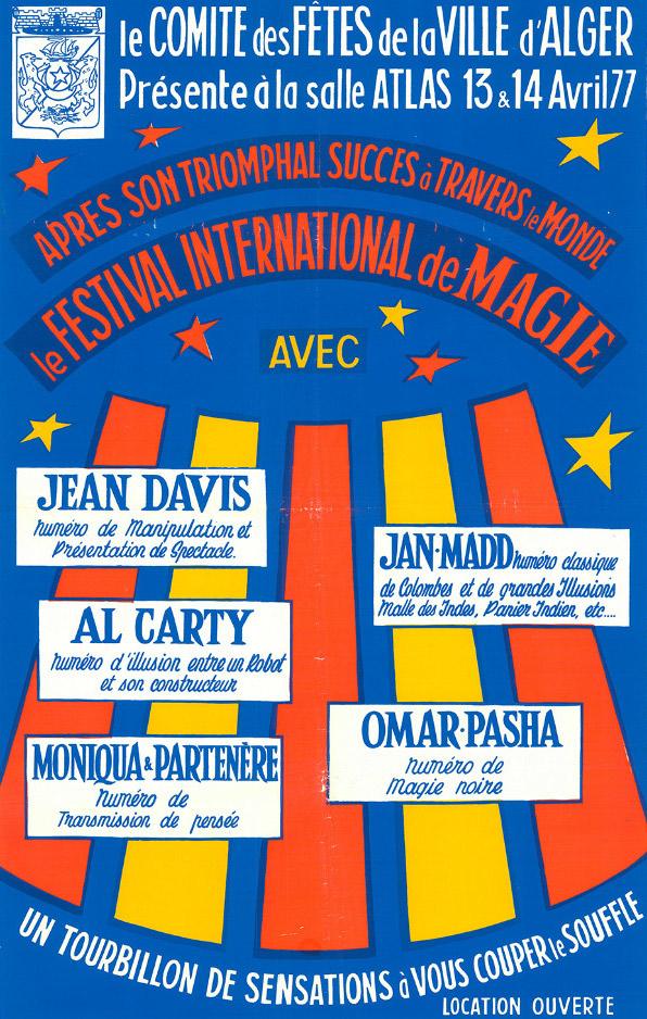 Algeria, Algiers, International Magic Festival, 1977