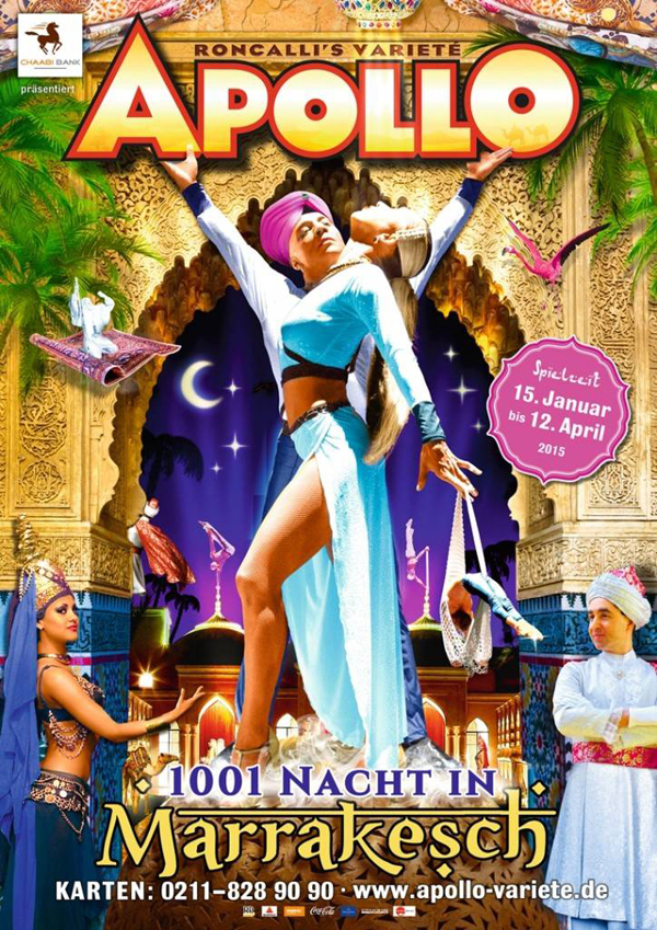 "Germany, Düsseldorf,  ""1001 Nights in Marrakech"" at the Roncalli's Apollo Varieté Theater, 2015"
