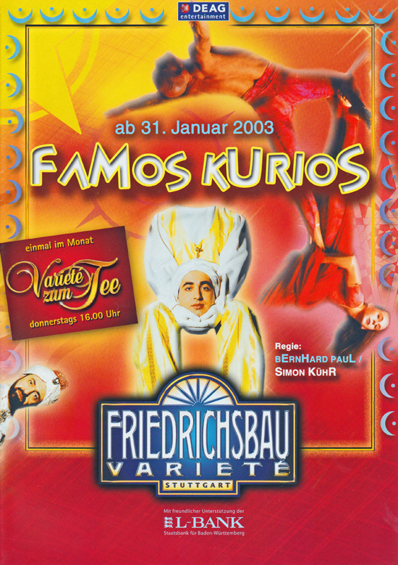 "Germany, Stuttgart, ""Famos Kurios"" at the Friedrichsbau Theater, 2003"