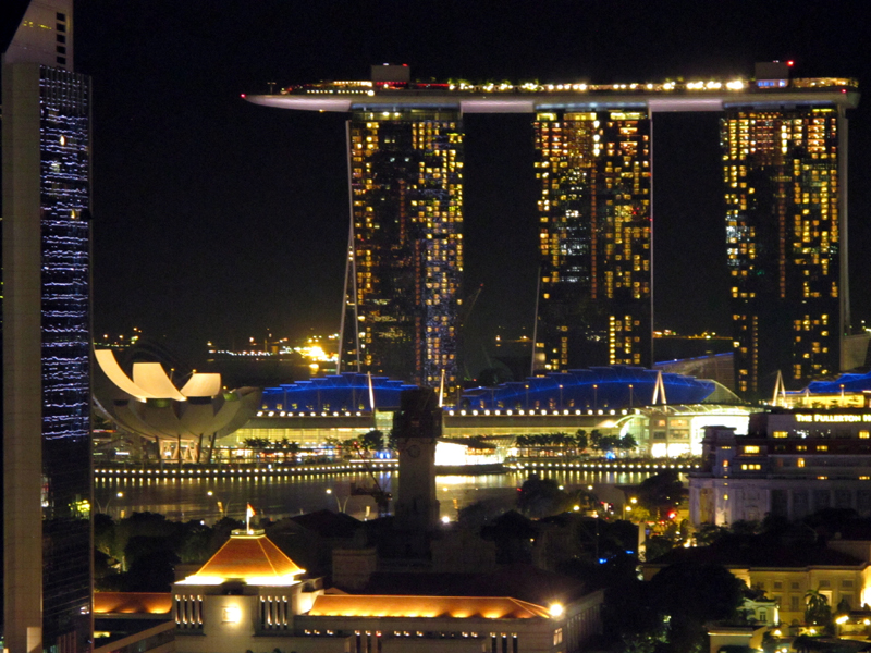 Marina Bay Sands and part of the city