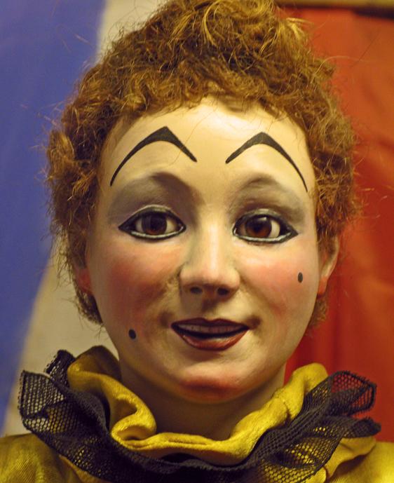 In the Casa Magica magic museum. Automaton's head.