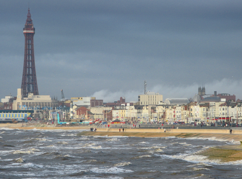 Seaside with the Blackpool Tower in the background