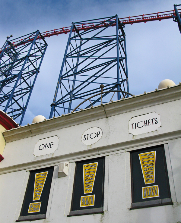 Pleasure Beach theme park, February 2009