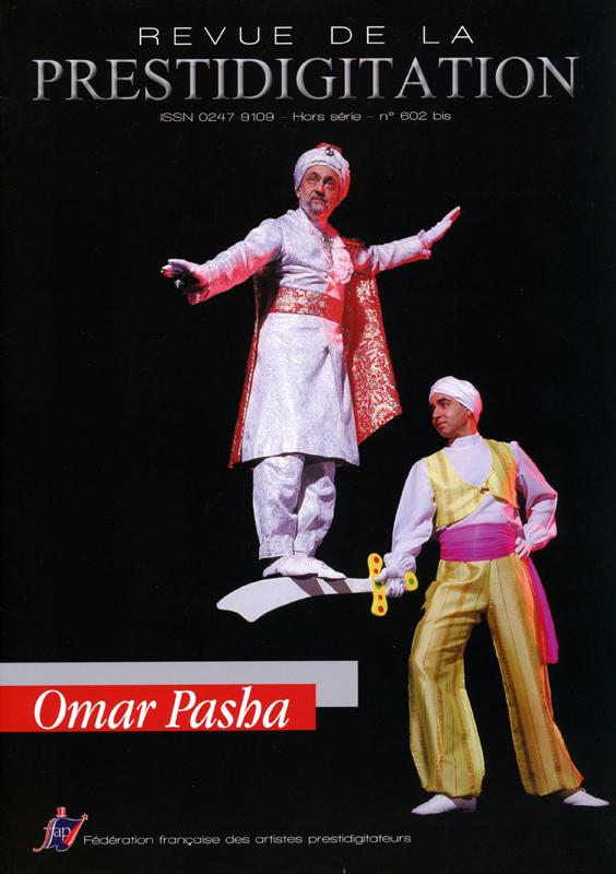 """France, """"La Revue de la Prestidigitation"""" (FFAP), page une de couverture, numéro spécial consacré à Omar Pasha, 2014"""
