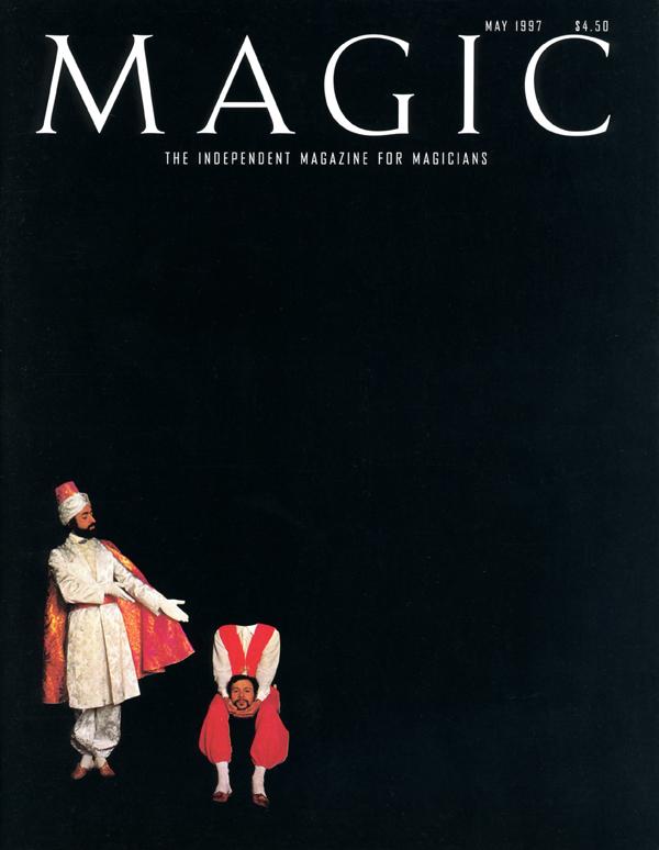 USA, page de couverture du magazine magique « Magic », 1997