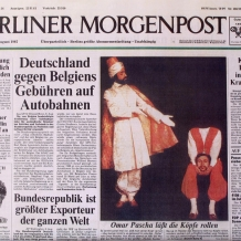 "Allemagne, Berlin, première page du journal ""Berliner Morgenpost"", 1987"